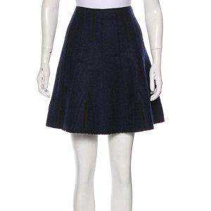 Alberta Ferretti Navy Wool Skirt